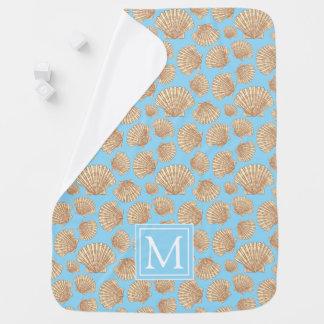 Couverture Pour Bébé Le motif vintage | de coquillage de style ajoutent