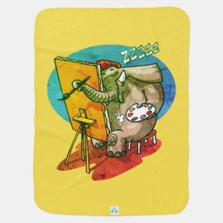 Couverture Pour Bébé l'éléphant le peintre est bande dessinée drôle de