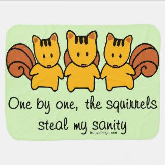 Couverture Pour Bébé Les écureuils volent ma santé d'esprit