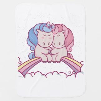 Couverture Pour Bébé Licornes sur la couverture drôle d'arc-en-ciel