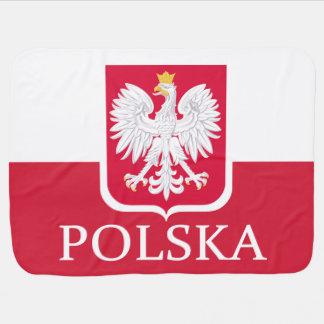 Couverture Pour Bébé Manteau de drapeau de la Pologne Polska des bras