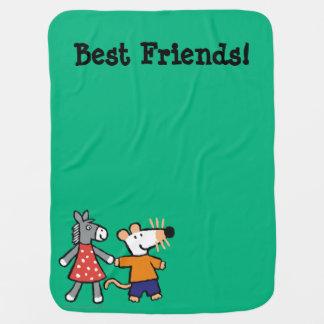 Couverture Pour Bébé Meilleurs amis Maisy et mains pointillées de prise