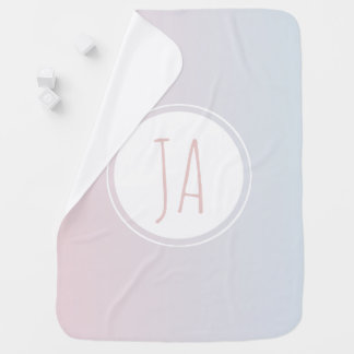 Couverture Pour Bébé Monogramme personnalisé Ombre de licorne de bébé