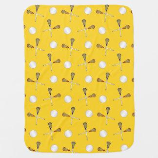 Couverture Pour Bébé Motif jaune de lacrosse