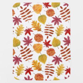 Couverture Pour Bébé Motif sans couture de feuille d'automne