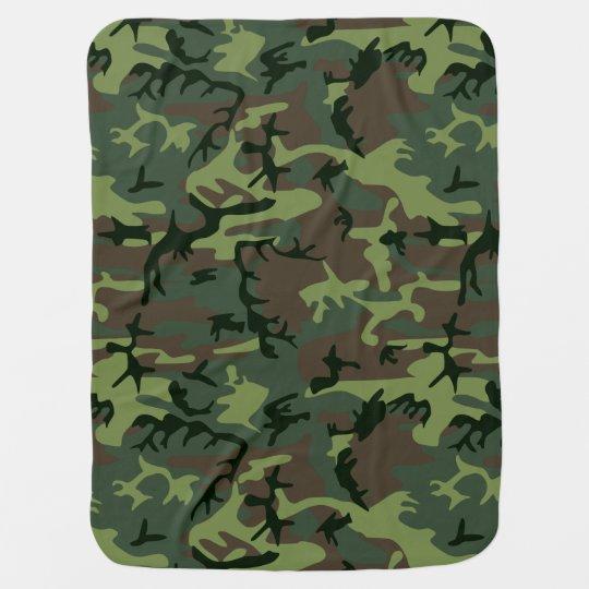 Couverture Camouflage couverture pour bébé motif vert de camo brown de camouflage | zazzle.fr