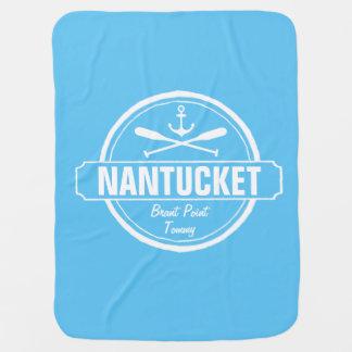Couverture Pour Bébé Nantucket, mA a personnalisé l'ancre nommée et