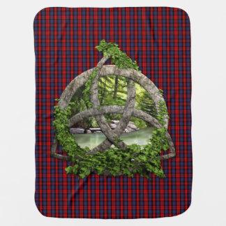 Couverture Pour Bébé Noeud de trinité et tartan celtiques de MacLachlan