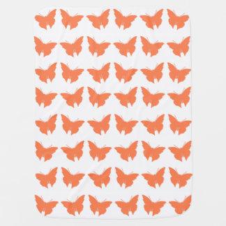 Couverture Pour Bébé Papillons audacieux de corail