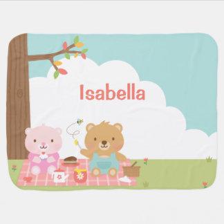 Couverture Pour Bébé Partie mignonne de pique-nique d'ours de nounours
