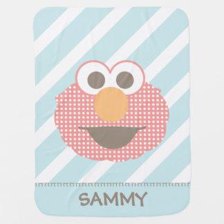 Couverture Pour Bébé Point de polka de visage d'Elmo de bébé le grand  