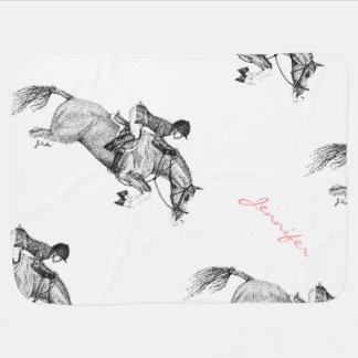 Couverture Pour Bébé Pointillism de poney de chasseur