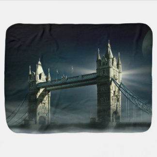 Couverture Pour Bébé Pont Londres de tour en brouillard de nuit