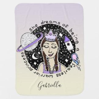 Couverture Pour Bébé Princesse rêveuse Art Name de l'astronaute de la