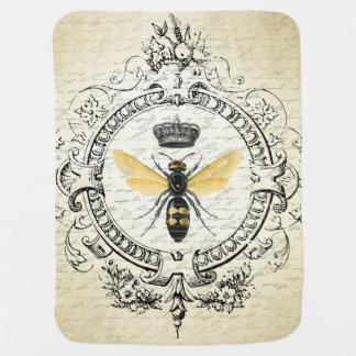 Couverture Pour Bébé reine des abeilles française vintage moderne