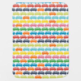 Couverture Pour Bébé Rétro illustration d'autobus de surf