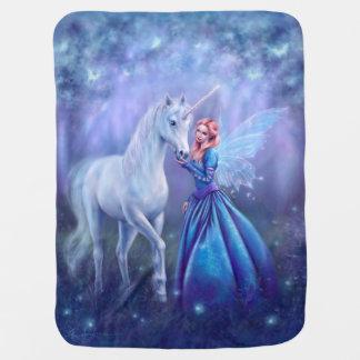 Couverture Pour Bébé Rhiannon - licorne et couverture d'art de fée