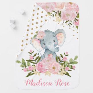 Couverture Pour Bébé Rose et couverture florale de bébé de crèche