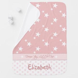 Couverture Pour Bébé Rose personnalisé avec le bébé d'étoiles
