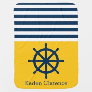 Couverture Pour Bébé Roue nautique de bateau avec le jaune et les