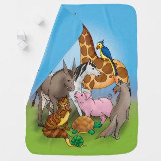 Couverture Pour Bébé Salut mes amis ! animaux adorables de |