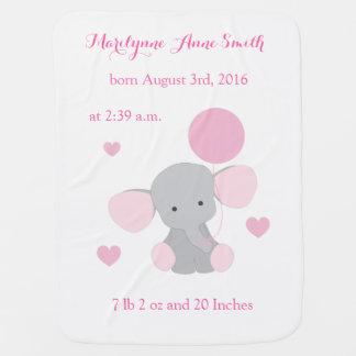 Couverture Pour Bébé Stat Chevron gris rose de naissance de bébé