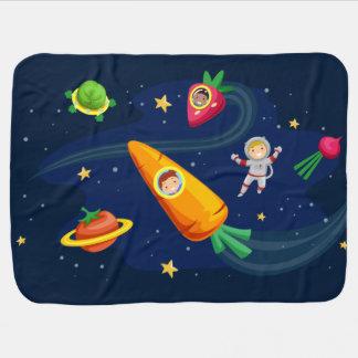 Couverture Pour Bébé Thème végétal de l'espace