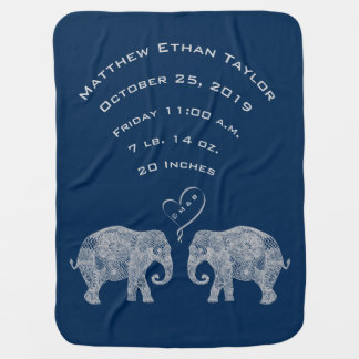 Couverture Pour Bébé Tonnes d'éléphant de stat de disque de naissance