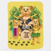 Trio de royaume de musique des lions jouant des