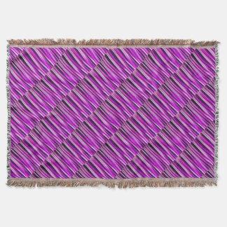 Couverture Prune pourpre et et lignes rayées motif de