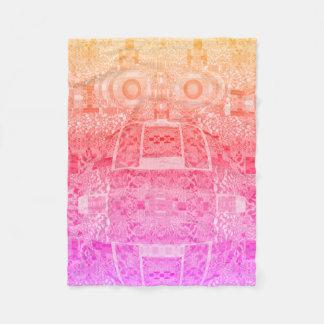 Couverture psychédélique magique de rose de motif