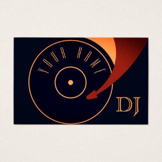 Couverture réglée d'illustration de vinyle du DJ Cartes De Visite
