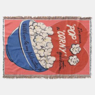 Couverture Rétro carte postale vintage de Valentine de maïs