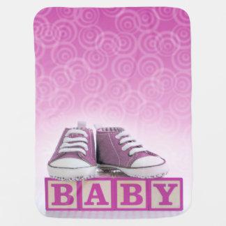 Couverture rose de bébé couverture de bébé