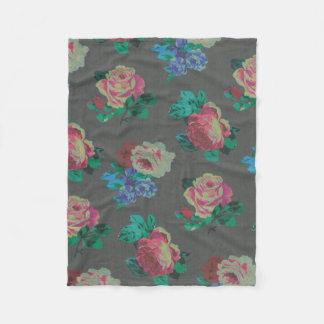 couverture rose décorative d'ouatine de fleur