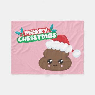Couverture rose d'Emoji de dunette de Joyeux Noël