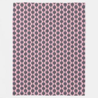 Couverture rose d'ouatine de noeud