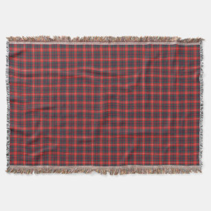 Couverture Rouge de Fraser de clan et tartan écossais modern