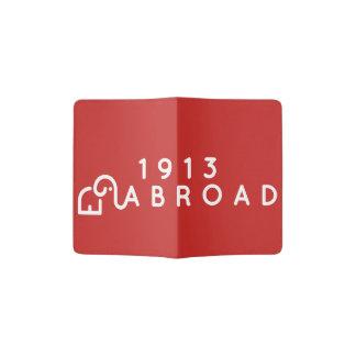 Couverture rouge de passeport protège-passeports