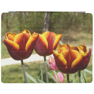 Couverture rouge et jaune d'iPad de tulipes Protection iPad