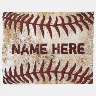 Couverture rustique personnalisée de base-ball,