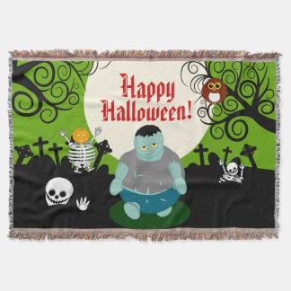 Couverture Scène de zombi de Halloween de pleine lune de