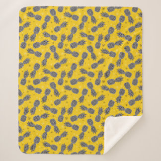 Couverture Sherpa Ananas sur l'or