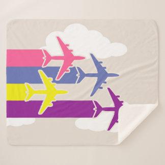 Couverture Sherpa Avions colorés