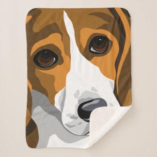Couverture Sherpa Cadeaux d'amant de beagle
