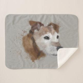 Couverture Sherpa Couleur pour aquarelle de Terrier