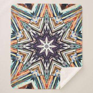 Couverture Sherpa Étoile texturisée colorée