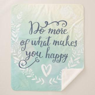 Couverture Sherpa Faites plus de ce qui vous rend heureux
