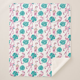 Couverture Sherpa Flamants roses