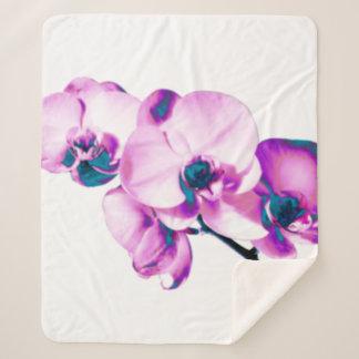Couverture Sherpa Orchidées